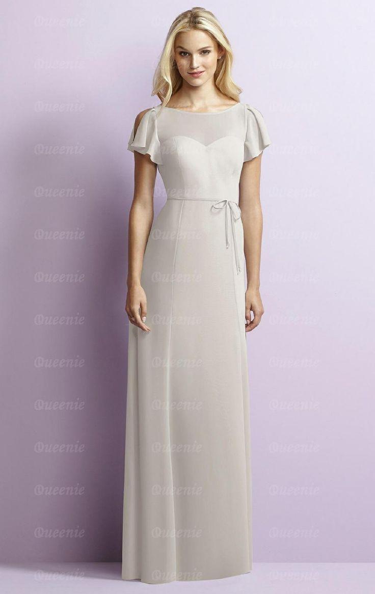 15 best bridesmaid images on pinterest marriage chiffon modest silver long bridesmaid dress bnnde0023 bridesmaid uk ombrellifo Choice Image