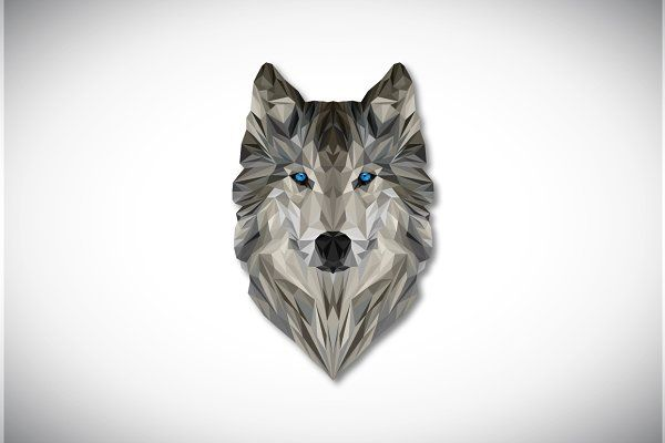 Geometric Wolf Vector Illustration - Illustrations