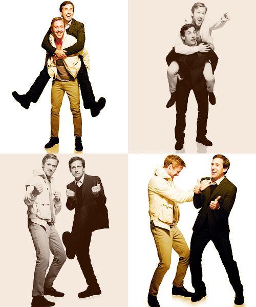 Steve Carell & Ryan Gosling  Aww!