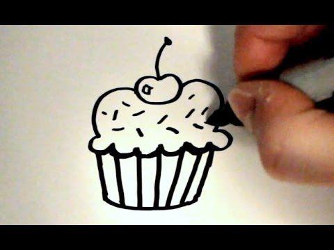 How to Draw a Cartoon Cupcake v2 (+playlist)