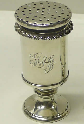 Antique Silver ~ Lovely Shape ~ Note the rope border style/same as mine