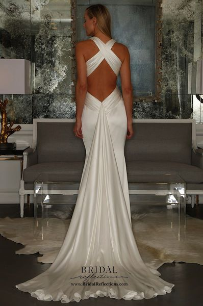Back of Gown: Romona Keveza Wedding Dresses and Bridal Collection | New York