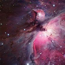A close up of the Orion Nebula