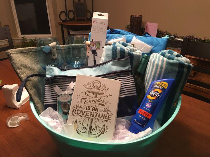 Wedding Gift Ideas Honeymoon : Honeymoon Gift Baskets on Pinterest Honeymoon basket, Bridal gift ...
