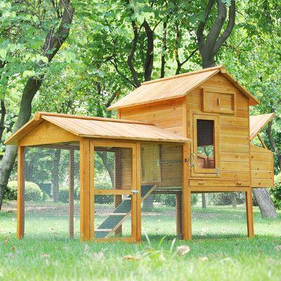 Medium Wood Chicken Coop Nest Box Rabbit Hutch Backyard Poultry Cage Hen House on eBay!