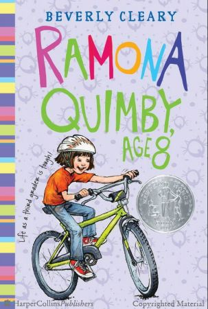Ramona Quimby, Age 8 by Beverly Cleary. Newbury Honor Book