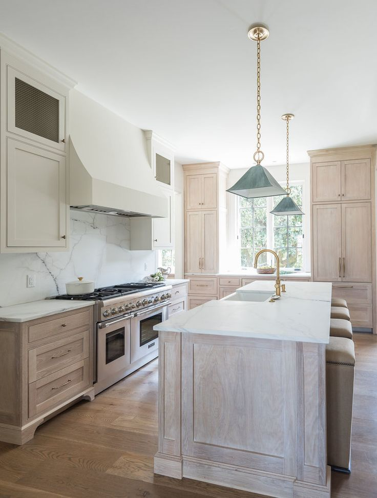 Wood Cabinet Marble Countertops Raw Beauty