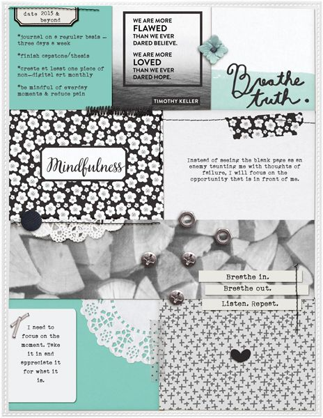Layout by Kimberlee | Truth and Beauty Pocket Cards | Two More Days