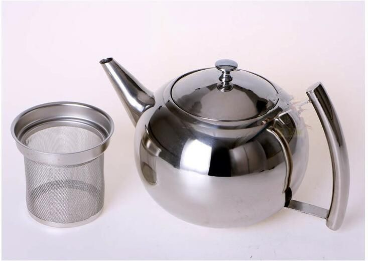 free shipping water kettle 2 litre Thick stainless steel teapot with  filter teapot kung fu tea pot induction cooker use