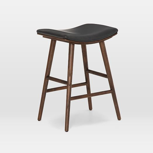 Oak Wood Upholstered Saddle Bar Counter Stools In 2020 Saddle Bar Stools Counter Stools Bar Stools