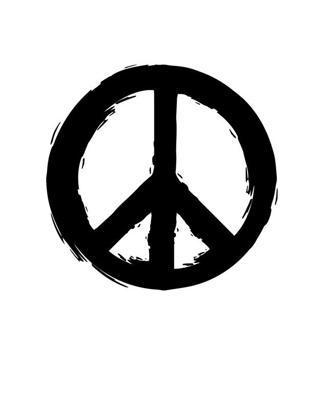 Peace Symbol -  Peace Symbol. A beautiful design to bright up your day. Print it and hang it on your wall to remind yourself daily, or gift it to loved ones. This eye-catching design will make anybody pause for a second and reflect.  art collectibles digital prints digital art print printable wall art typography art print quote art print quote poster print canvas quote art inspirational art black and white art peace symbol art peaceful wall print peace dove print we want
