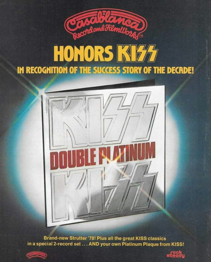 Ad for the Double Platinum compilation LP
