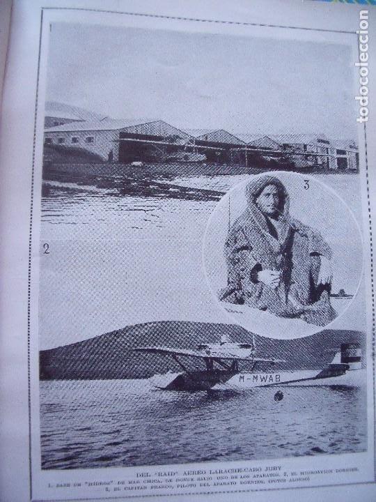 LARACHE.-AVIACION.-DEL RAID AEREO LARACHE-CABO JUBY.-REPORTAJE DE REVISTA.-BLANCO Y NEGRO.-AÑO 1924. (Coleccionismo - Revistas y Periódicos Modernos (a partir de 1.940) - Blanco y Negro)