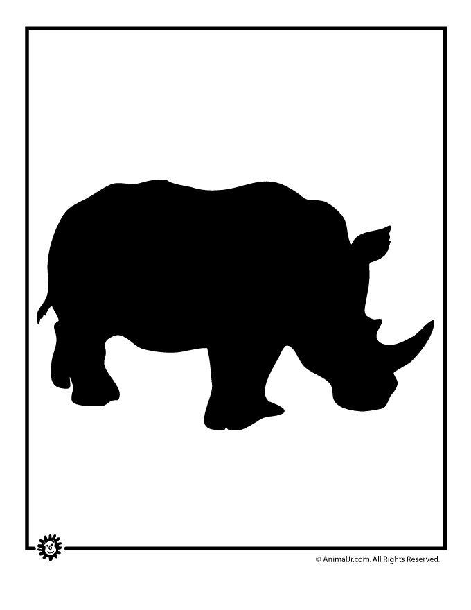 printable animal templates rhino template craft jr