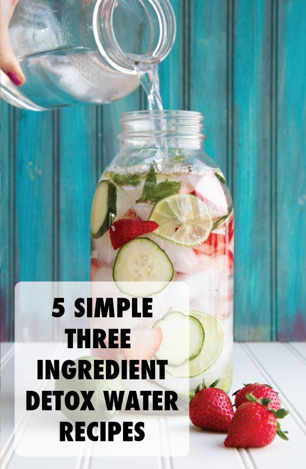 5 Simple Three Ingredient Detox Water Recipies #fitness #detox #diet #weightloss