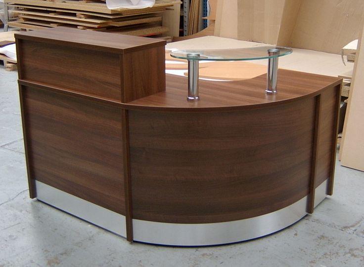 Flex Compact Unit A Reception Desk Finished In Walnut