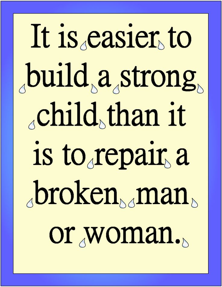 Caring about children and how they are raised is definitely a good way to prevent a number of problems in our society as a whole.
