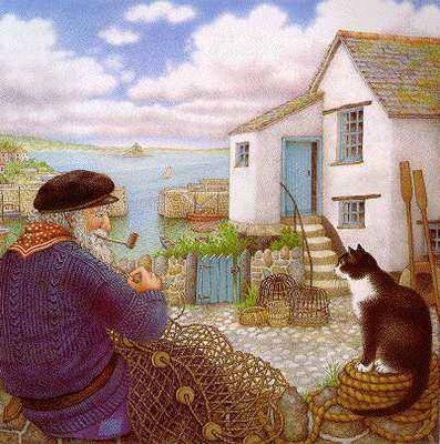 Nicola Bayley, The Mousehole Cat.  If you walk the streets of Mousehole (Cornwall) you may see the Mousehole cat dozing in the sun...I did.
