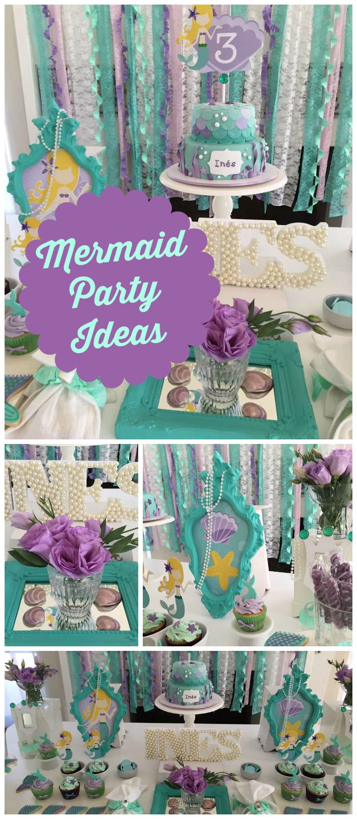 M 225 s de 1000 ideas sobre decoraciones de fiesta de safari en pinterest - I M Loving This Mermaid Party With A Teal And Purple Color Scheme See