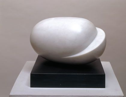 Barbara Hepworth DBE was an English sculptor. Her work exemplifies Modernism, and with such contemporaries as Ivon Hitchens, Henry Moore, Ben Nicholson, Naum Gabo she helped to develop modern art in Britain.