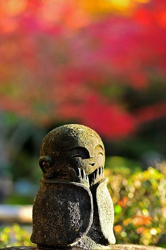 Jizo - a god who protects children. Some say he was inspired by Jesus hundreds of years ago. (japan...buddism)