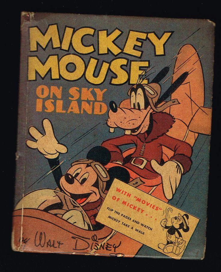 Mickey Mouse On Sky Island Big Little Book BLB 1417 HC 1941