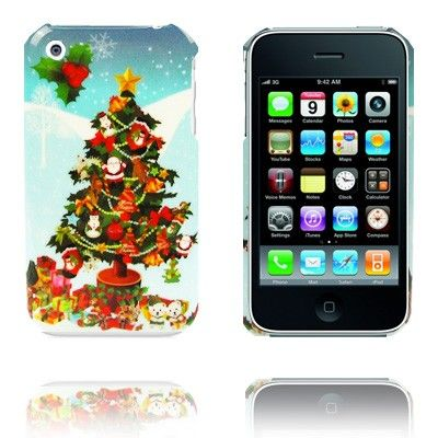 Vrolijk Kerstfeest (Boom) iPhone Case voor 3G en de iPhone 3GS