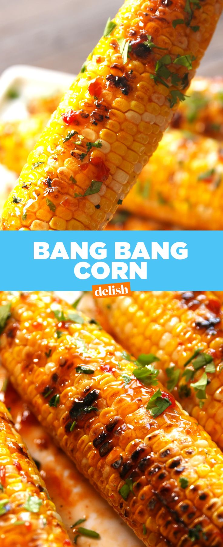 This Bang Bang Corn is seriously BANGIN'. Get the recipe from Delish.com.