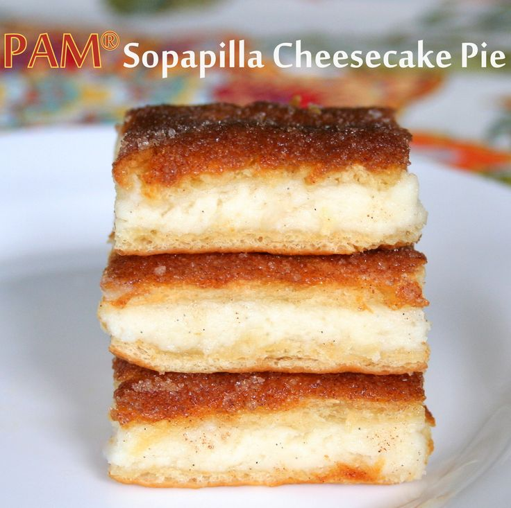 PAM® Sopapilla Cheesecake Pie! Delicious, easy, and worth it. # ...