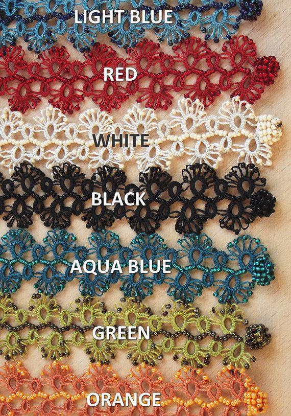 Turkish OYA Lace  Bracelet  Lace  7 colors