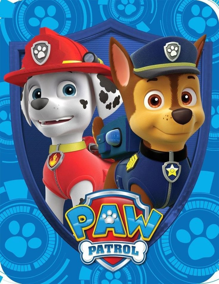 """Nickelodeon Paw Patrol Plush Blanket NEW 46""""x60""""  Great Gift!! Chase & Marshall  #Sold in my Ebay Store!!"""