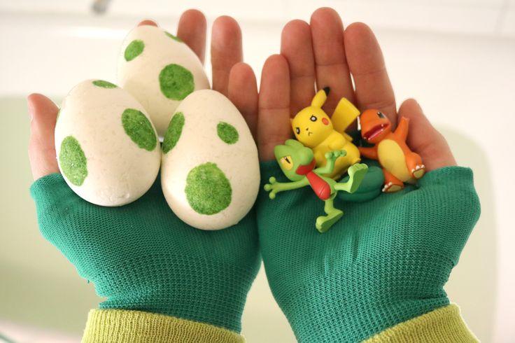 DIY Pokemon Egg Bath Bombs! #pokemon #pikachu #pokemongo #bathbombs #nintendo…