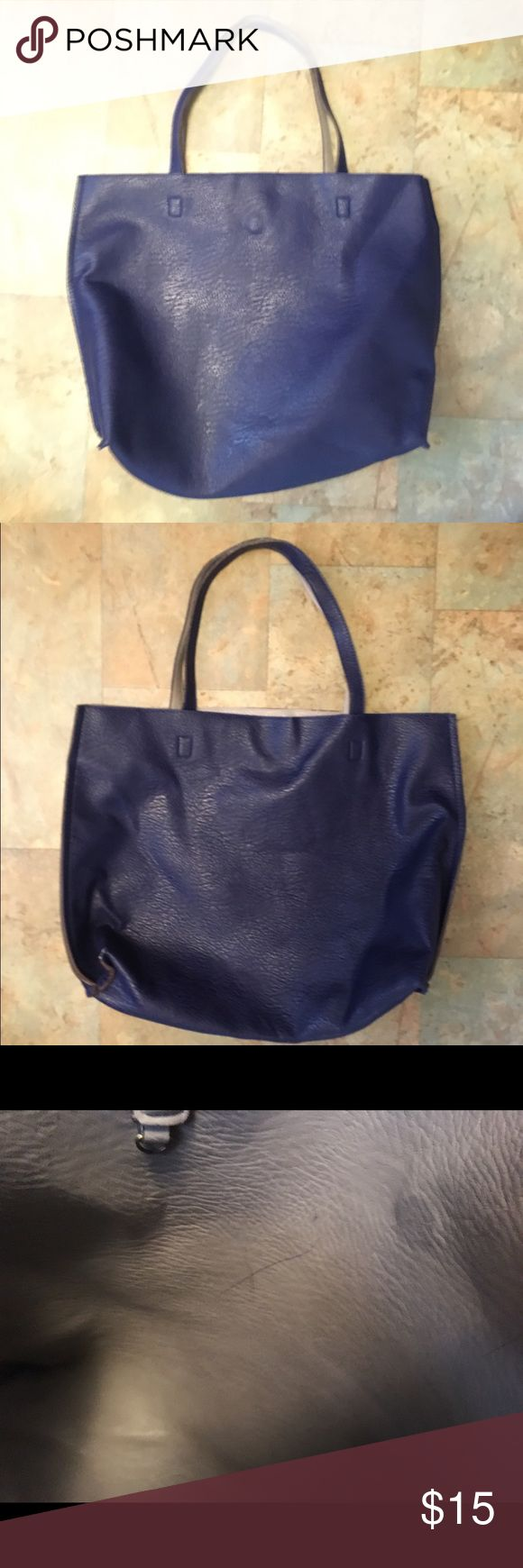 Navy Blue AEO Tote Large American Eagle Outfitters tote bag- magnet closure- some pen marks and wear on the inside- comment with any questions 💎 American Eagle Outfitters Bags Totes