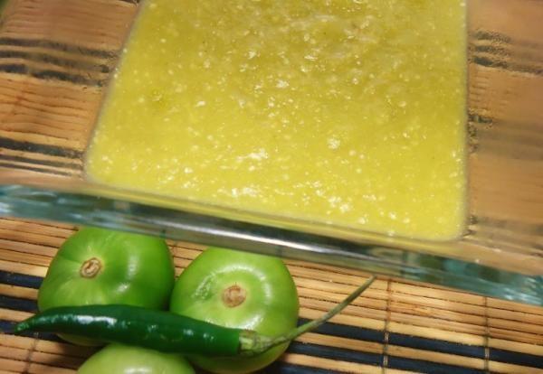 Receta de Salsa verde para enchiladas