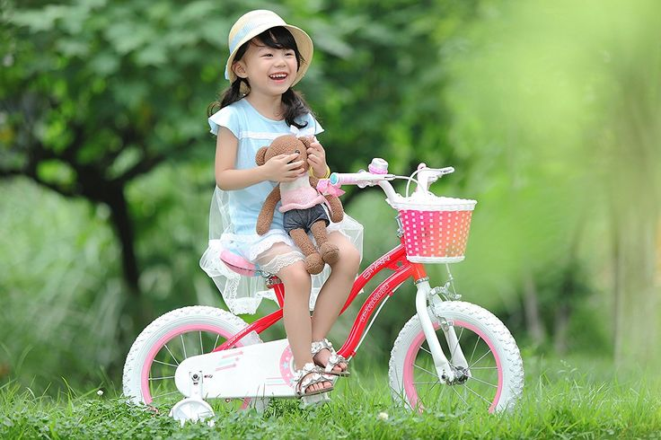 Amazon.com : RoyalBaby Stargirl Girl's Bike with Training Wheels and Basket, Perfect Gift for Kids. 12 Inch, 14 Inch, 16 Inch, Blue / Pink : http://amzn.to/2sAUpCu