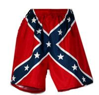 Southern Sisters Designs - Rebel Flag Mens Bathing Suit | Confederate Flag Mens Swim Trunks, $29.95 (http://www.southernsistersdesigns.com/rebel-flag-mens-bathing-suit-confederate-flag-mens-swim-trunks/)