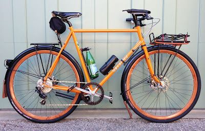 bikes&girls&macs&stuff - (via The Velo ORANGE Blog: Eric's Bike)