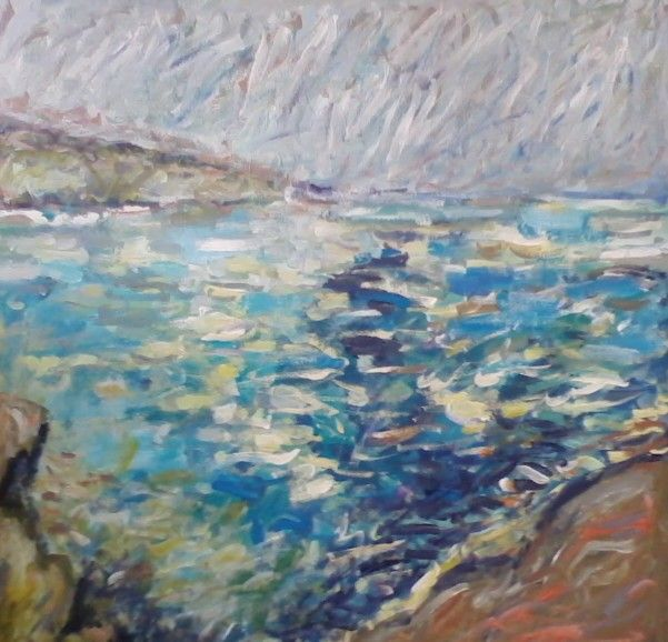 BALCHIK, 60/60cm, acrylic on canvas, 2014