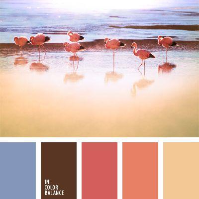 celeste suave, color azul oscuro suave, color pluma de flamenco, coral, elección del color, marrón, rosa anaranjado, selección de colores, tonos corales, tonos pastel de color coral, tonos rosados.