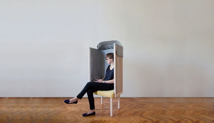 Offline chair blocks off mobile and WI-FI signals on Behance