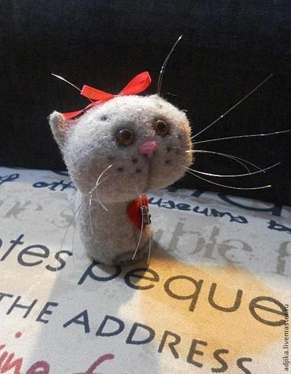 Игрушки животные, ручной работы. Ярмарка Мастеров - ручная работа Мини-котейка Плюша. Handmade.