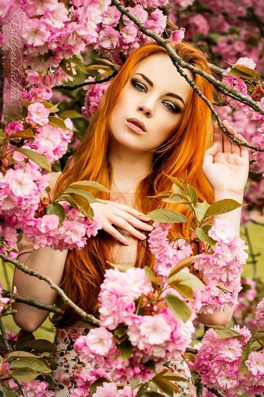 beautiful girl with red hair professional picture