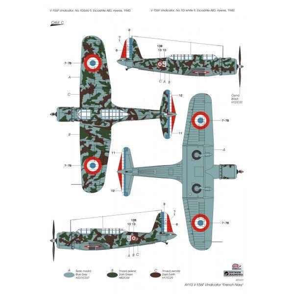 Maquette Avions à helices V-156 F VINDICATOR AERONAVALE 1940 Azur - Modélisme et modèles réduits Avions à helices sur Comptoirdelamaquette.fr
