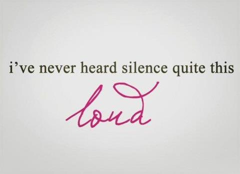 Deafening silence.