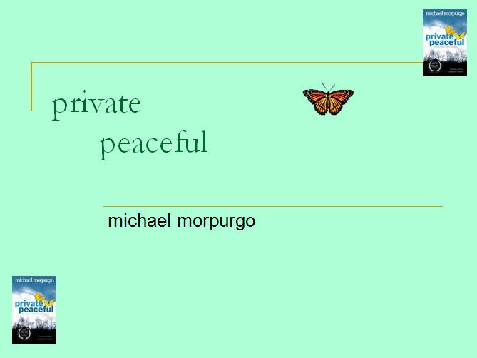 Private Peaceful: questions and creative writing task - Explore an event from the novel from another point of view.