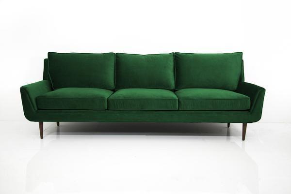 Stockholm Sofa in Emerald Green Velvet
