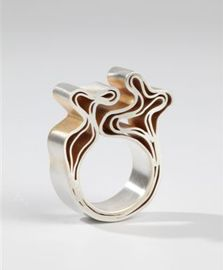 Jos Jonkergouw - ring, silver plated