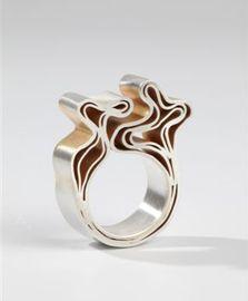 Jos Jonkergouw - ring, silver plated