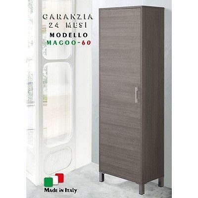 Mobile-ripostiglio-bagno-con-portascopa-rovere-scuro-60cm