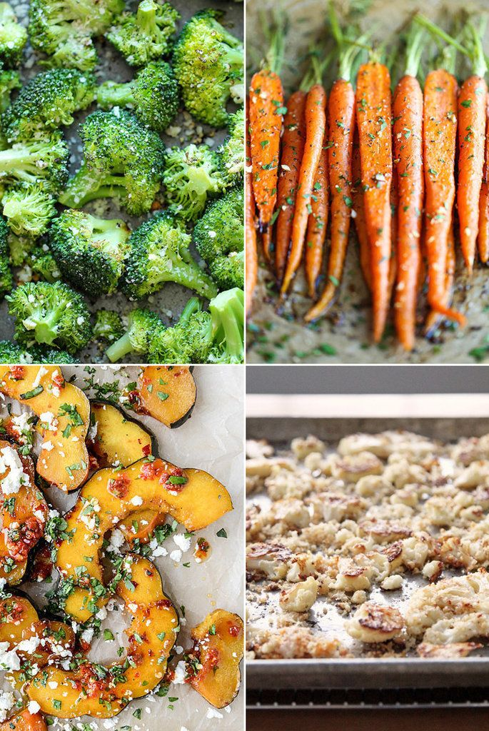 You're automatically set up for veggie success when you start with a preheated oven, olive oil, and salt and pepper. These 21 recipes offer a variety of vegetables and additional ingredients that combine to make perfect side dishes to any meal.